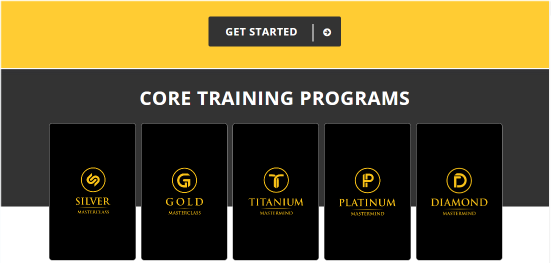 The MOBE core training programs.