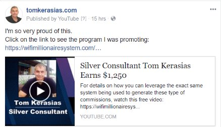 Tom Kerasias Silver Master Class Affiliate Earns $1,250 in commissions