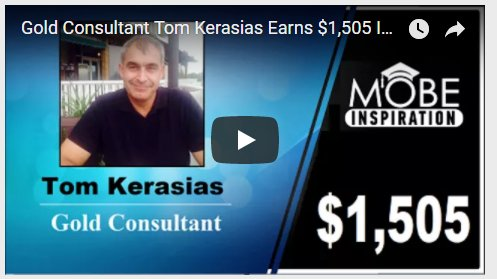 Gold Consultant Tom Kerasias Earns $1,505 In commissions.